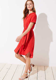 Tie Waist Short Sleeve Shirtdress