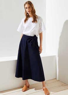 LOFT Tie Waist Skirt