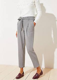 LOFT Tie Waist Slim Pants