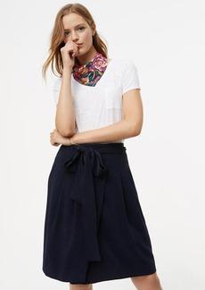 Tie Waist Wrap Skirt