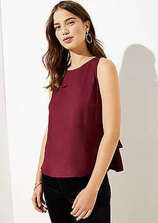 LOFT Tiered Button Back Shell