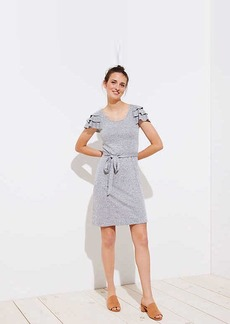 LOFT Tiered Flutter Knit Dress
