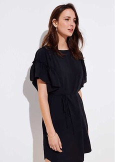 LOFT Tiered Flutter Sleeve Dress