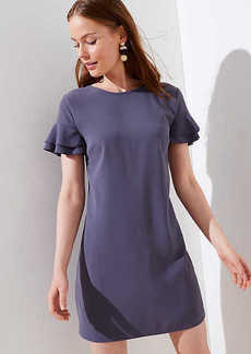 LOFT Tiered Flutter Sleeve Shift Dress