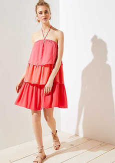 LOFT Tiered Halter Dress