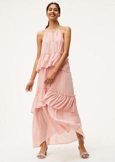 Tiered Halter Maxi Dress