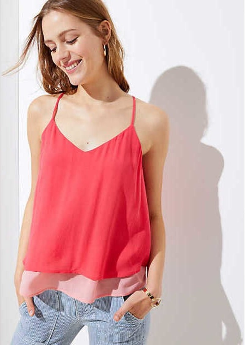 LOFT Tiered Strappy Cami