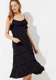 LOFT Tiered Strappy Flounce Dress