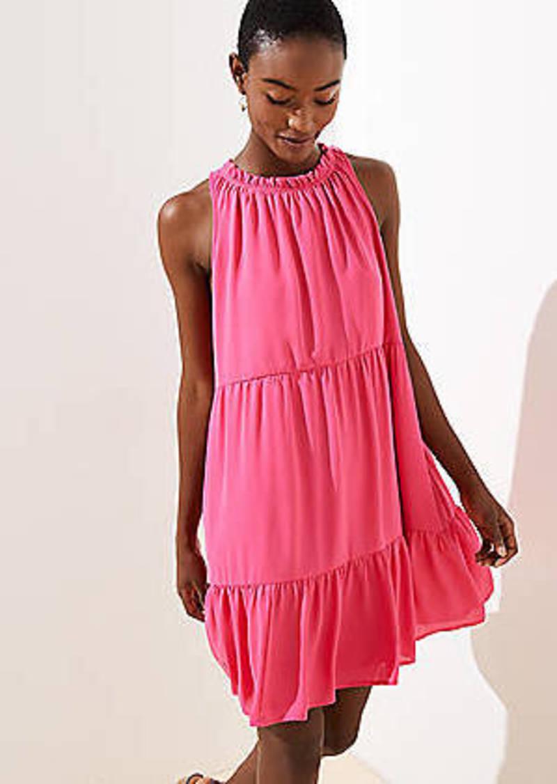 LOFT Tiered Swing Pocket Dress