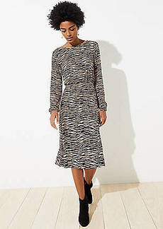 LOFT Tiger Stripe Bar Back Dress