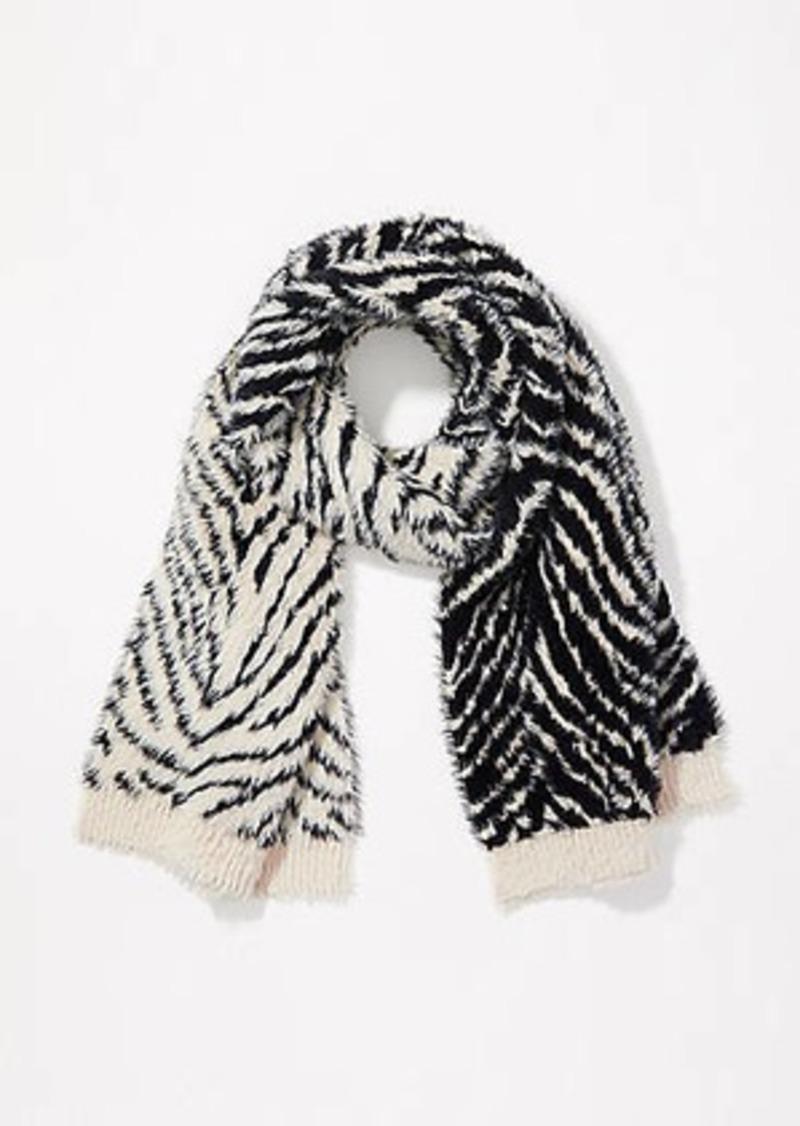 LOFT Tiger Stripe Blanket Scarf