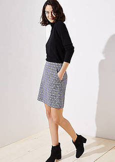LOFT Tile Jacquard Shift Skirt