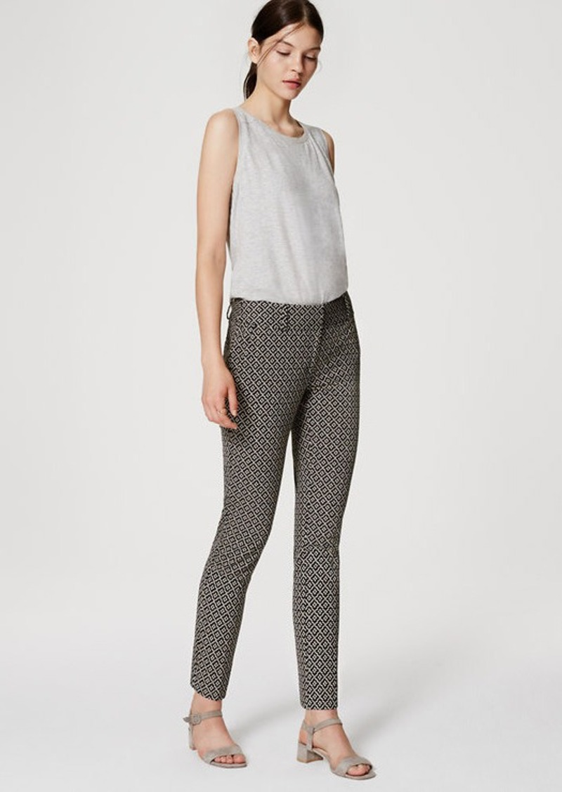 LOFT Tiled Essential Skinny Ankle Pants in Julie Fit