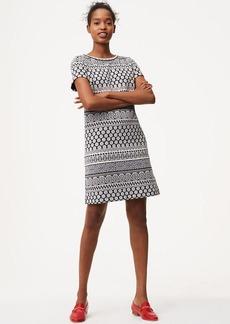 Tiled Stripe Shift Dress