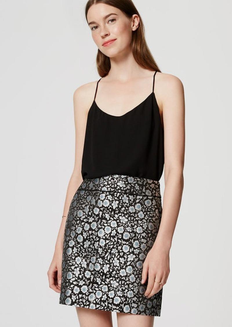 LOFT Tipped Floral Skirt