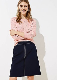 LOFT Topstitched Pocket Pull On Skirt
