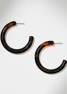 LOFT Tortoiseshell Print Hoop Earrings