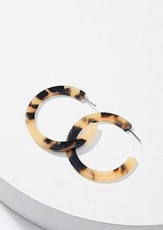 LOFT Tortoiseshell Print Hoop Earrings