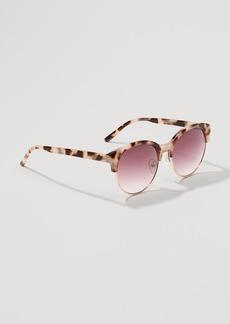 Tortoiseshell Print Retro Sunglasses