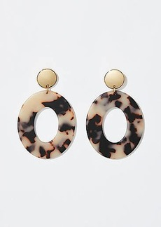 LOFT Tortoiseshell Print Ring Earrings