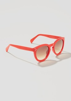 Tortoiseshell Print Round Sunglasses