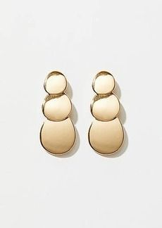 LOFT Triple Disc Drop Earrings