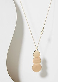 LOFT Triple Disc Pendant Necklace