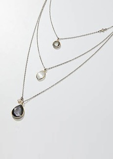 LOFT Triple Layered Stone Pendant Necklace