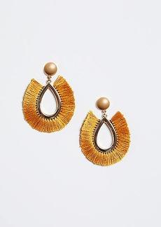 LOFT Tropical Fabric Drop Earrings