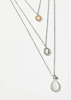 LOFT Tropical Layered Stone Necklace
