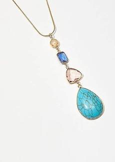 LOFT Tropical Stone Pendant Necklace