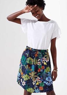 LOFT Tropicalia Tie Waist Pocket Skirt