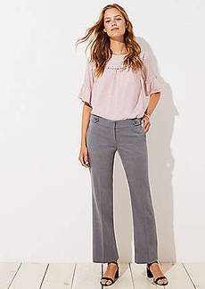 LOFT Trousers in Button Tab in Marisa Fit