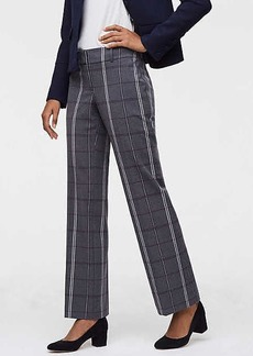 LOFT Trousers in Plaid Bi-Stretch in Julie Fit
