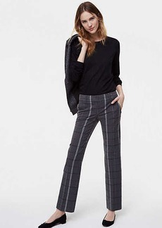LOFT Trousers in Plaid Bi-Stretch in Marisa Fit
