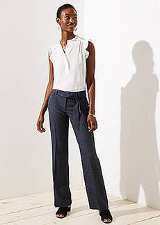 LOFT Trousers in Speckled Tie Waist in Marisa Fit