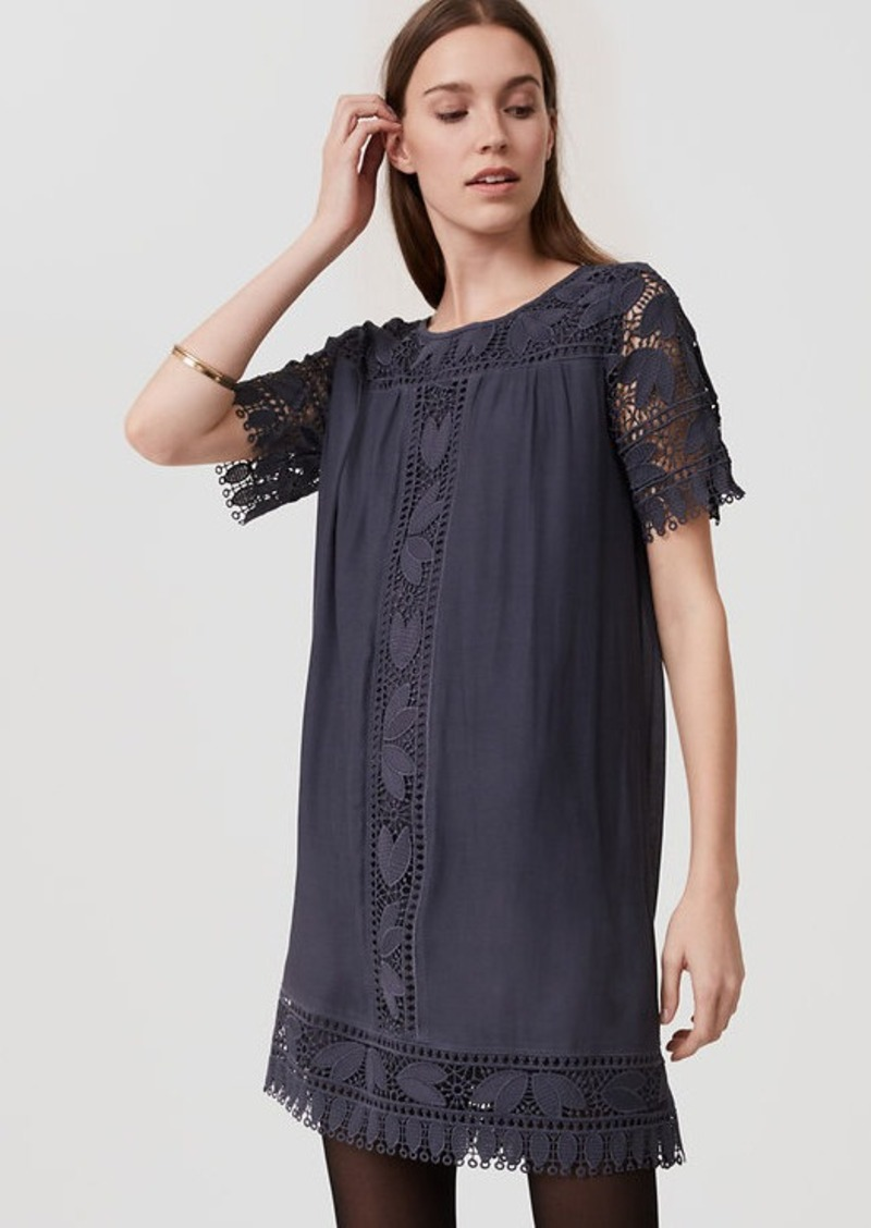 LOFT Tulip Lace Swing Dress