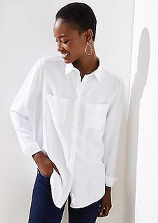 LOFT Button Down Tunic Shirt