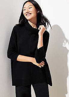LOFT Turtleneck Poncho Sweater