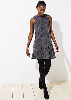 LOFT Tweed Flippy Dress