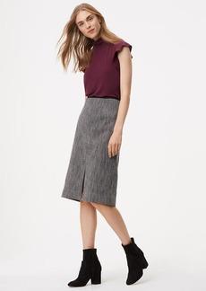 LOFT Tweed Front Slit Midi Skirt