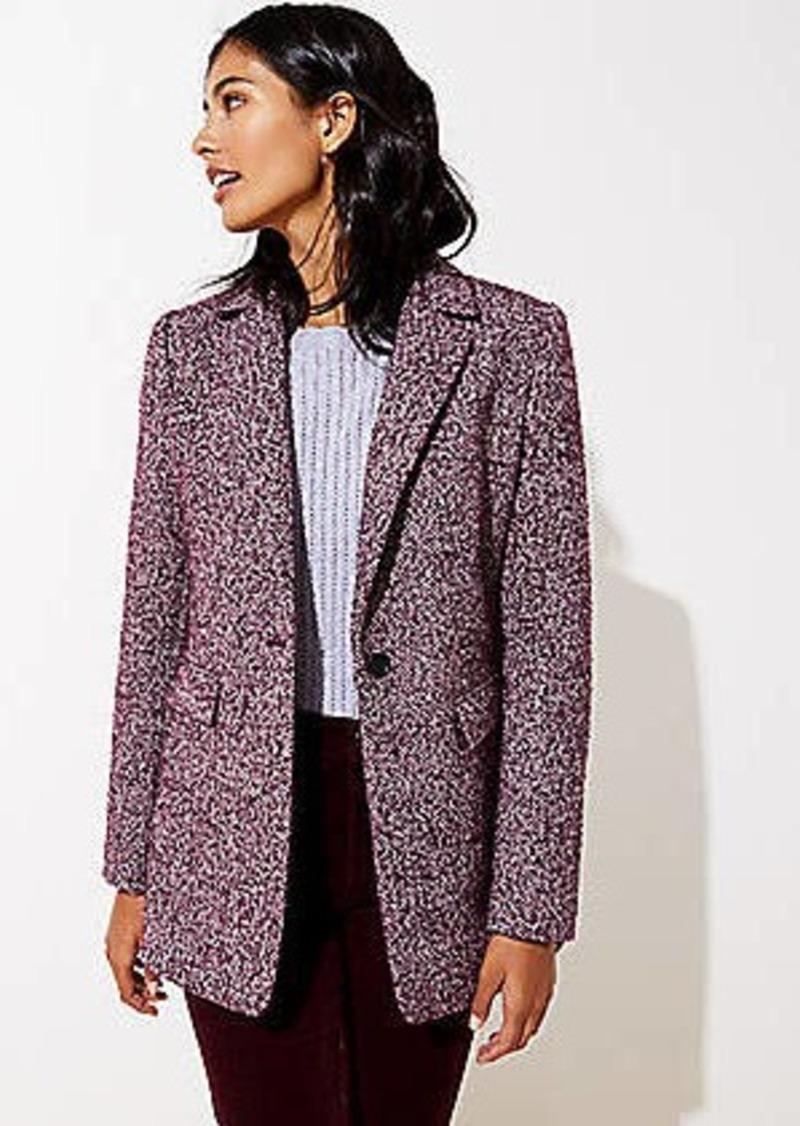 LOFT Tweed Long Modern Blazer