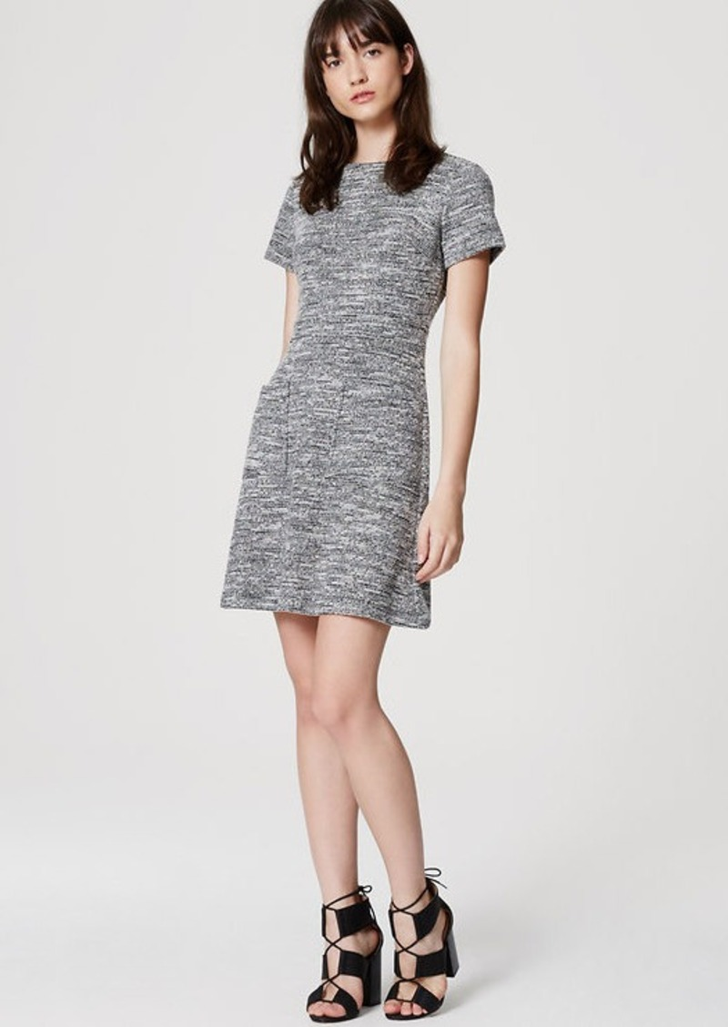 LOFT Tweed Pocket Dress