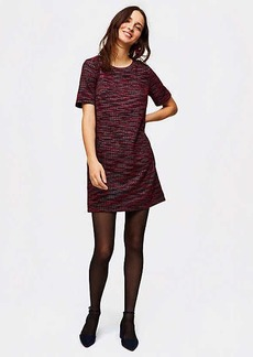 Tweed Pocket Shift Dress