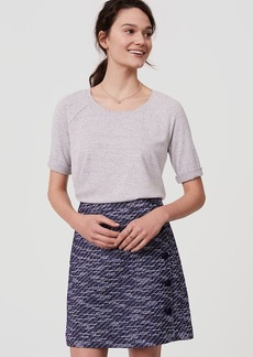 Tweed Side Button Skirt