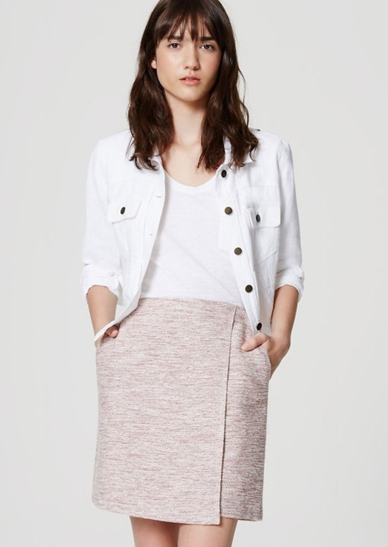 LOFT Tweed Wrap Skirt