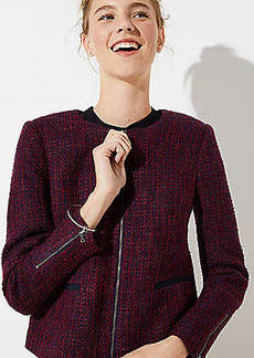 LOFT Tweed Zip Jacket