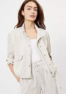 LOFT Soft Twill Drawstring Jacket