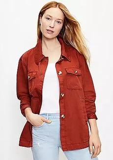 LOFT Twill Shirt Jacket