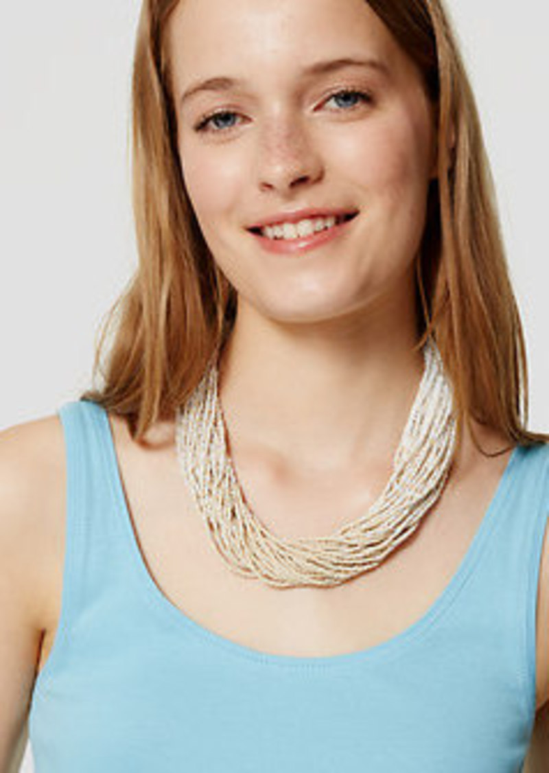 LOFT Twist Beaded Necklace